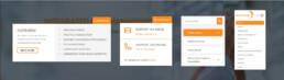 Mastehead website menu's