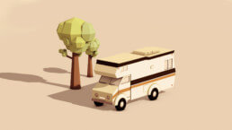 3D Illustration - Motorhome