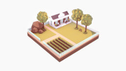 3D Illustration - Farm